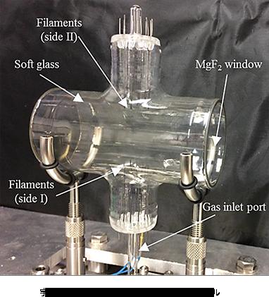 宇宙空間で水を感知する特殊フィルターのD/Hセル